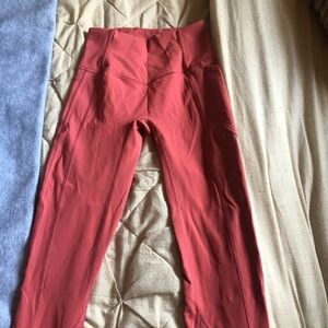 """Lululemon all the right places 23"""" pink size 2"""